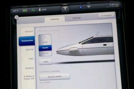 Электромобиль Tesla Model S имеет режим Джеймса Бонда