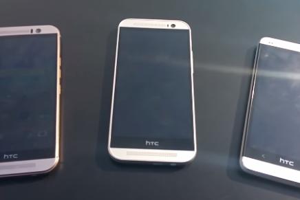 HTC One M9 видео прямо перед началом MWC 2015
