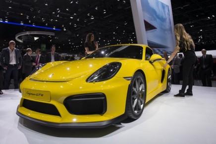 Porsche Cayman GT4 представлен на Женевском автосалоне