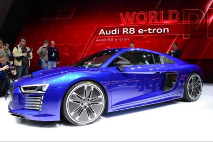 Audi R8 e-tron представлен на Женевском автосалоне