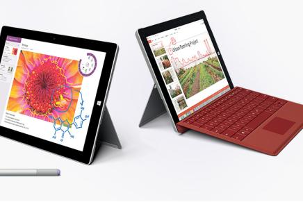 Microsoft анонсировала Surface 3 – самый тонкий и легкий Surface