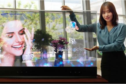 Samsung продемонстрировала 55-дюймовый прозрачный и зеркальный OLED дисплей