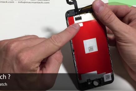 Экран не вышедшего iPhone 6S засветился в видео