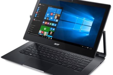 Acer представила Aspire R13 – ультрабук с поворотным дисплеем и процессором Skylake