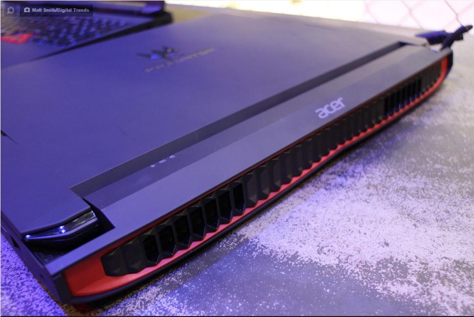 Внешний вид системы охлаждения Acer Predator 17