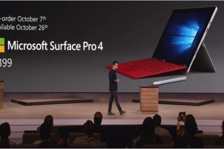 Microsoft представила Surface Pro 4