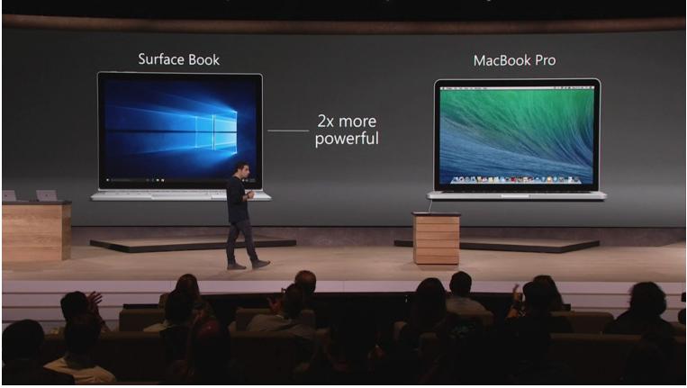 Surface Book в сравнении с MacBook Pro
