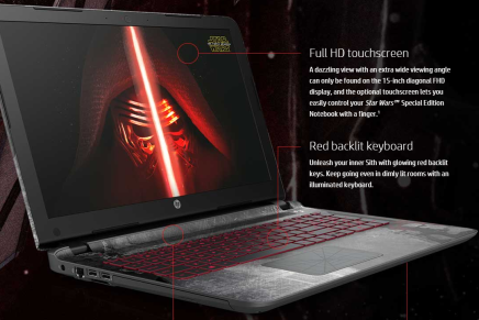 Для любителей Звездных Войн HP выпустила специальную версию ноутбука