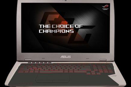 ASUS ROG G701VI – игровой ноутбук с видеокартой GTX 1080 доступен для заказа
